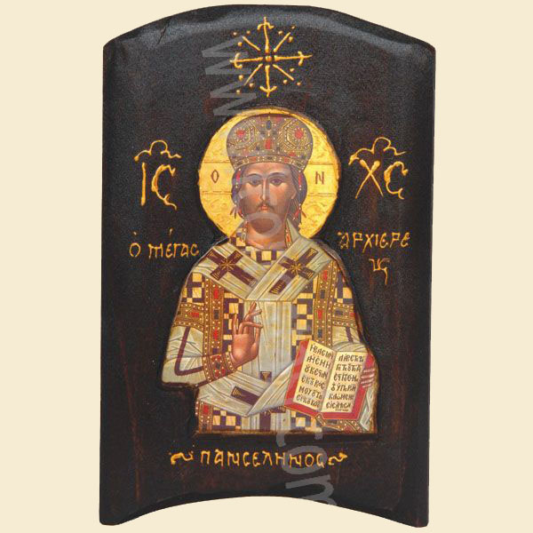 WOODEN ICON TH3 JESUS CHRIST