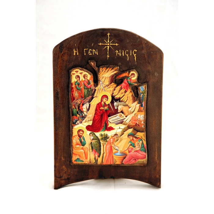 WOODEN ICON THE BIRTH TH2
