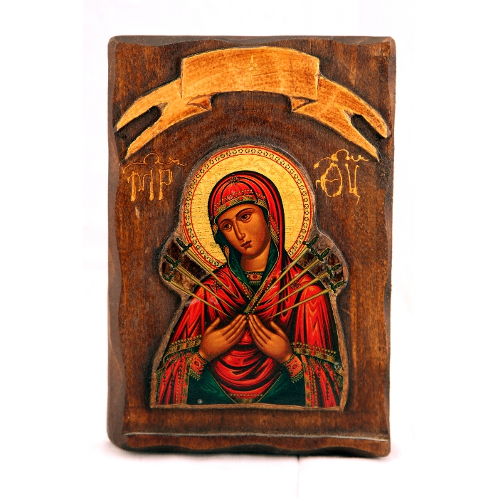 WOODEN ICON Z2 VIRGIN MARY