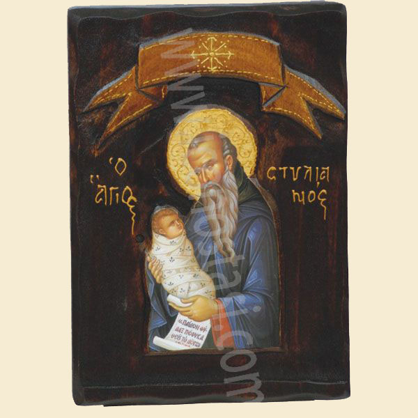 WOODEN ICON Z3 SAINT STYLIANOS