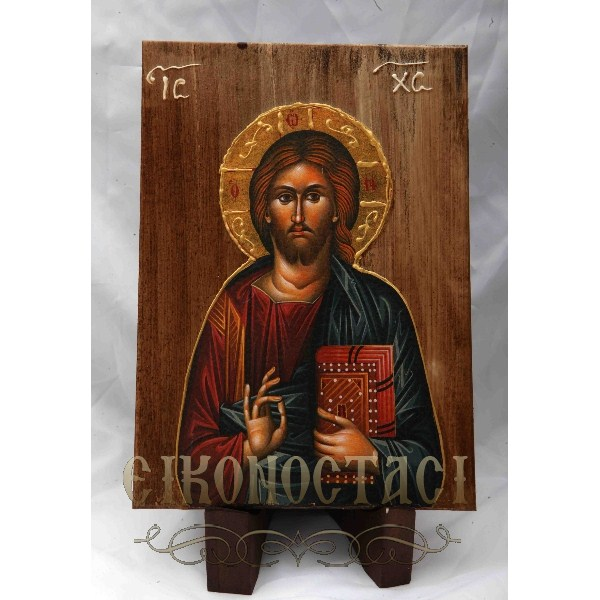 WOODEN ICON a2/3 JESUS CHRIST