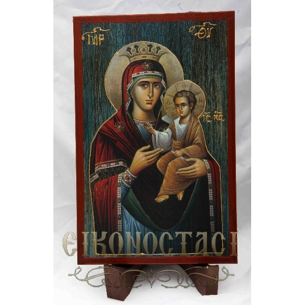 WOODEN ICON a3/1 VIRGIN MARY & JESUS CHRIST