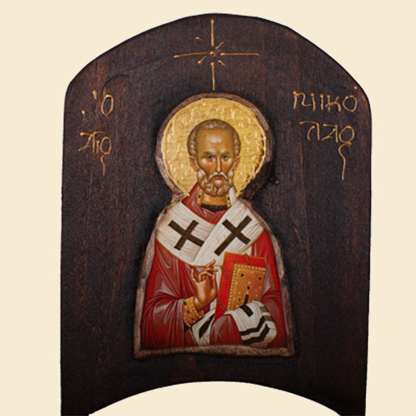 WOODEN ICON TH1 - SAINT NIKOLAOS