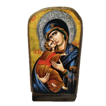 BOMBONNIERE WOODEN ICON MP5/1 VIRGIN MARY & JESUS CHRIST 13x6 cm