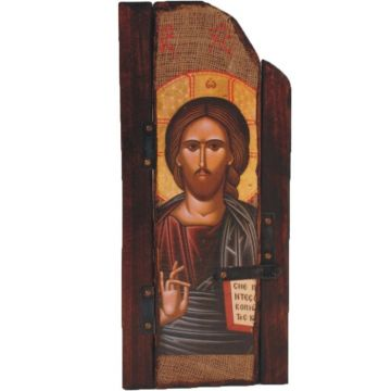 WOODEN ICON WITH JESUS CHRIST P5 40x19 cm