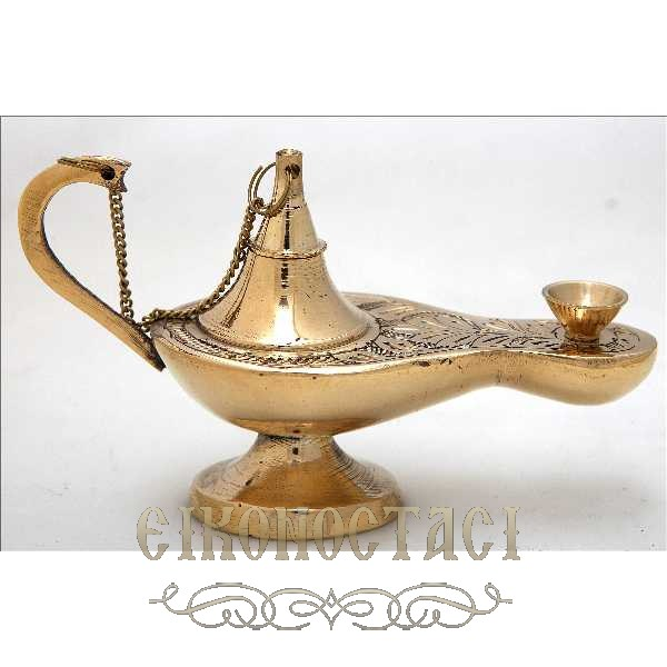 BRONZE OIL LAMP (373/5)
