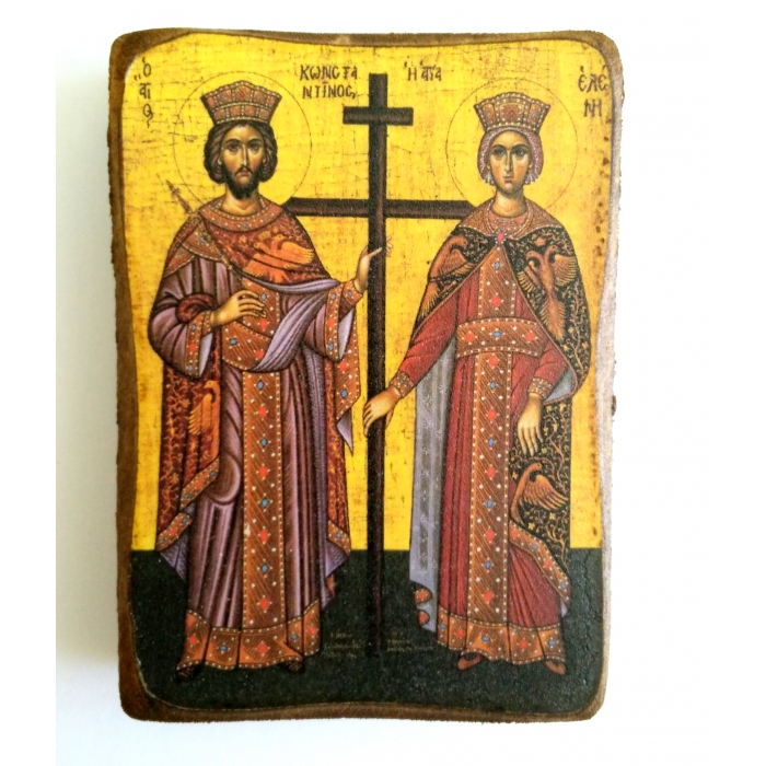 ICON OF SAINTS CONSTANTINE AND HELEN A0