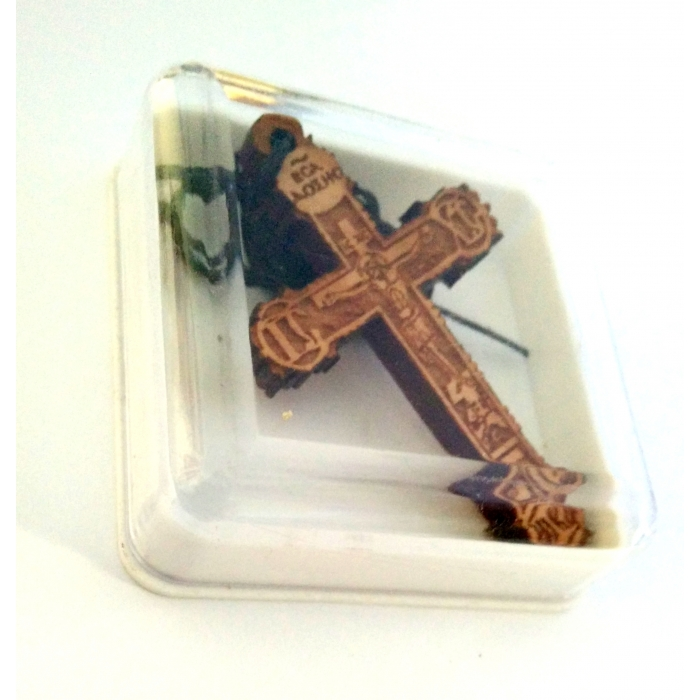 WOODEN CROSS PENDANT no.35