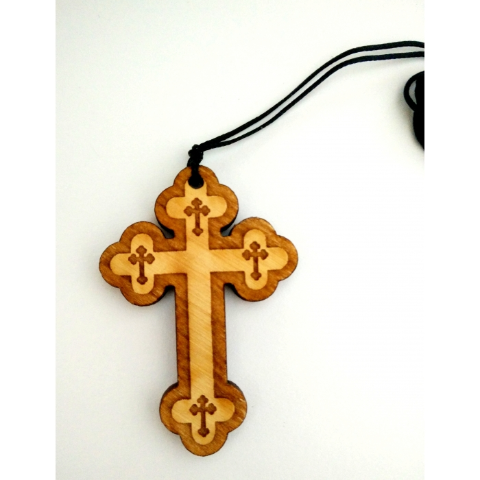 WOODEN CROSS PENDANT no.38