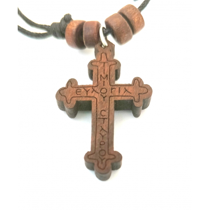 WOODEN CROSS PENDANT no.5