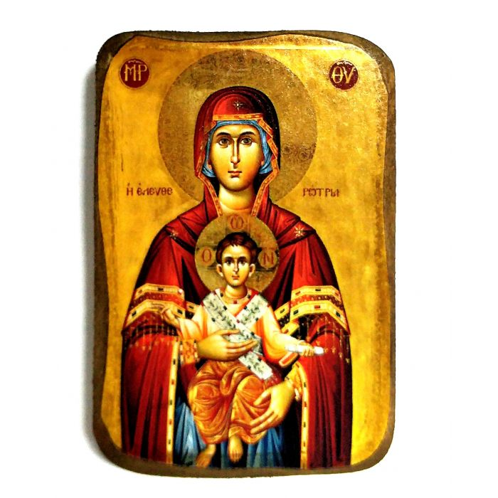 BOMBONNIERE ICON OF VIRGIN MARY ELEFTHEROTRIA A0 8.5x6 cm