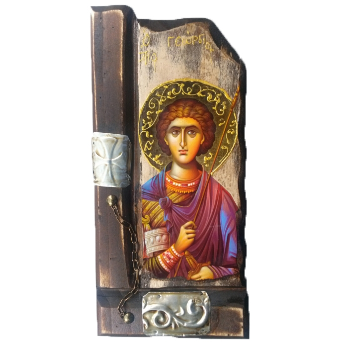 WOODEN ICON SAINT GEORGE P9
