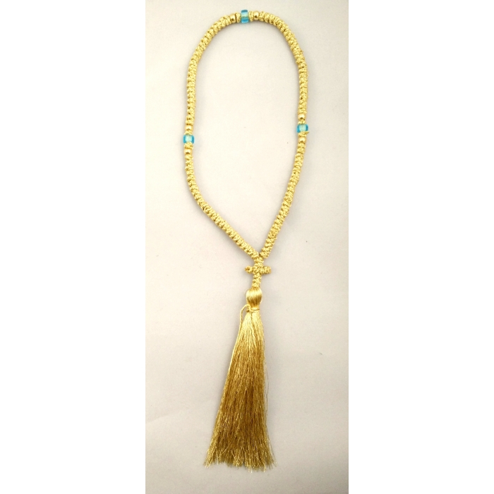 PRAYER ROPE 100 KNOTS GOLD THREAD