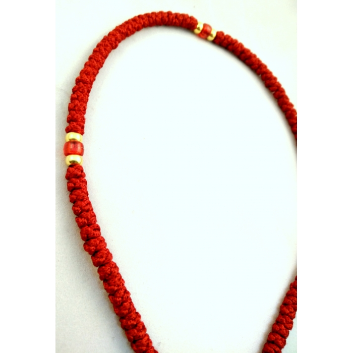 PRAYER ROPE 100 KNOTS RED 2