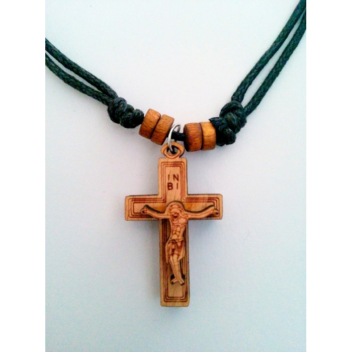 WOODEN CROSS PENDANT no.6