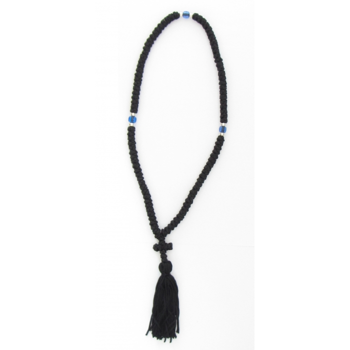 PRAYER ROPE 100 KNOTS BLACK