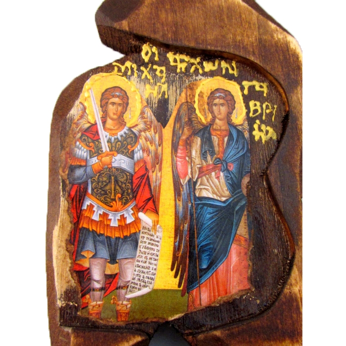 BOMBONNIERE ICON OF ARCHANGEL MICHAEL AND GABRIEL SF00