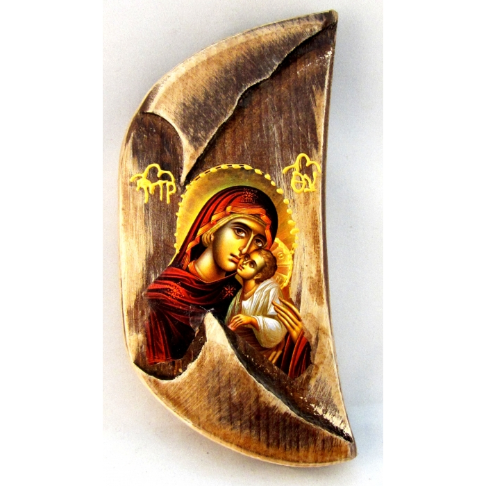 BOMBONNIERE ICON OF VIRGIN MARY & JESUS CHRIST F00a