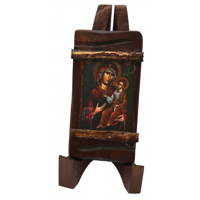 BOMBONNIERE WOODEN ICON MP3/3 VIRGIN MARY & JESUS CHRIST