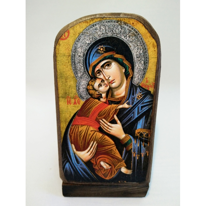 BOMBONNIERE WOODEN ICON MP5/1 VIRGIN MARY & JESUS CHRIST
