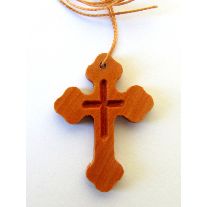 WOODEN CROSS PENDANT no.45