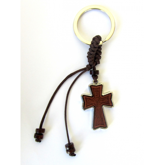 TWO SIDED CROSS KEYRING / 1