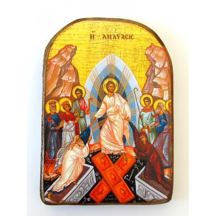 SET OF 2 MAGNET ICONS WITH VIRGIN MARY & SAINT GEORGE
