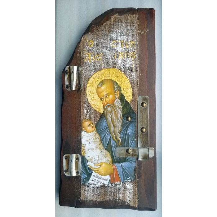WOODEN ICON P5 SAINT STYLIANOS