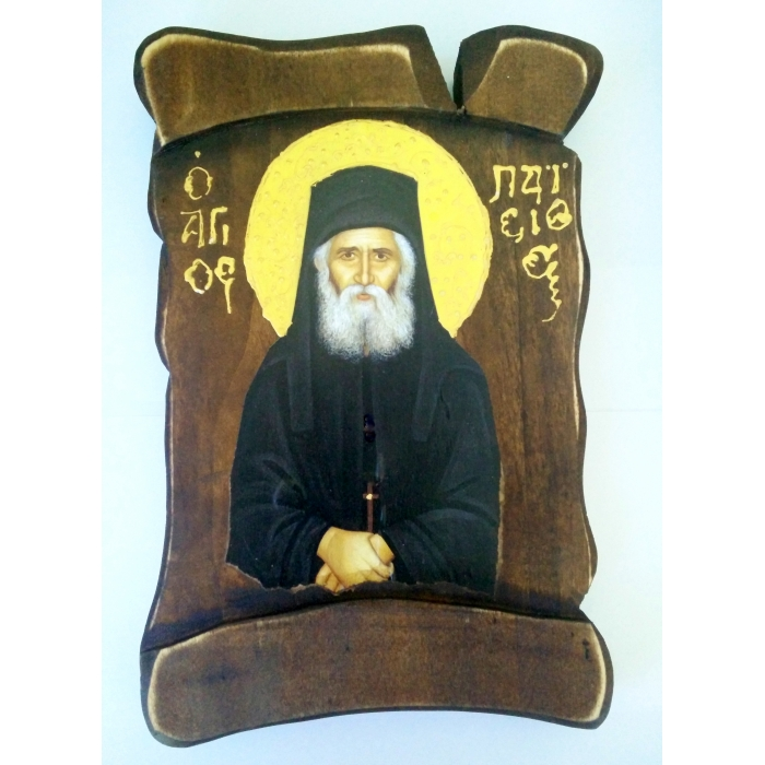 WOODEN ICON PAPYRUS - SAINT PAISIOS