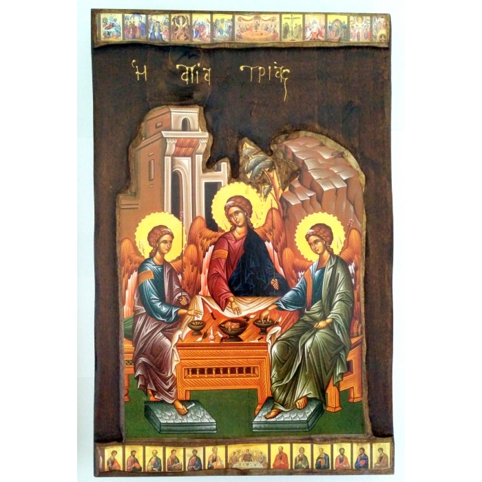 WOODEN ICON P3 - HOLY TRINITY