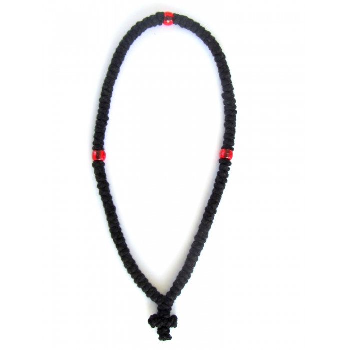 PRAYER ROPE 100 KNOTS BLACK WOOLEN 2