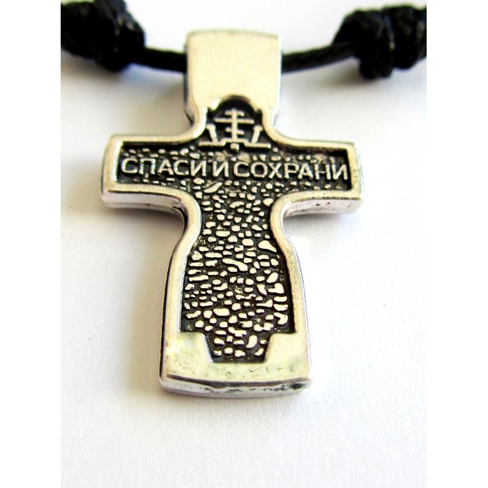 DOUBLE FACE STAINLESS STEEL CROSS PENDANT no.50