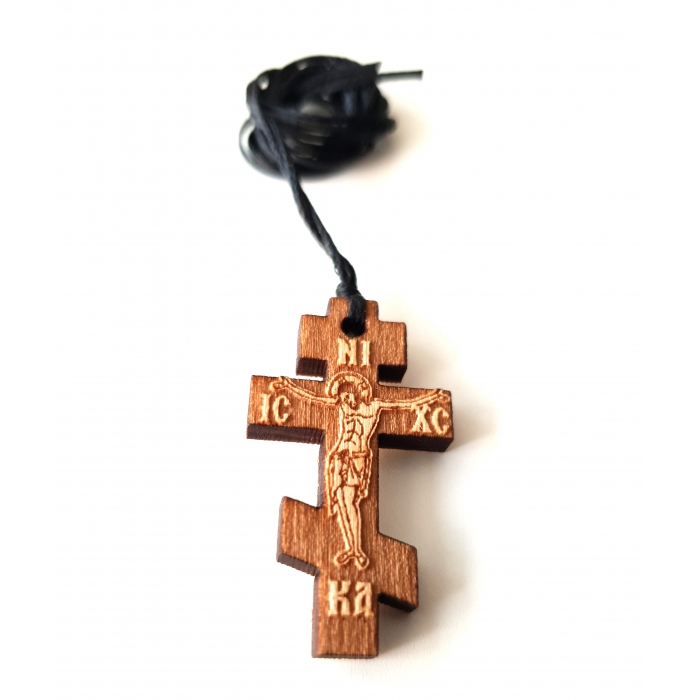 WOODEN CROSS PENDANT no.47
