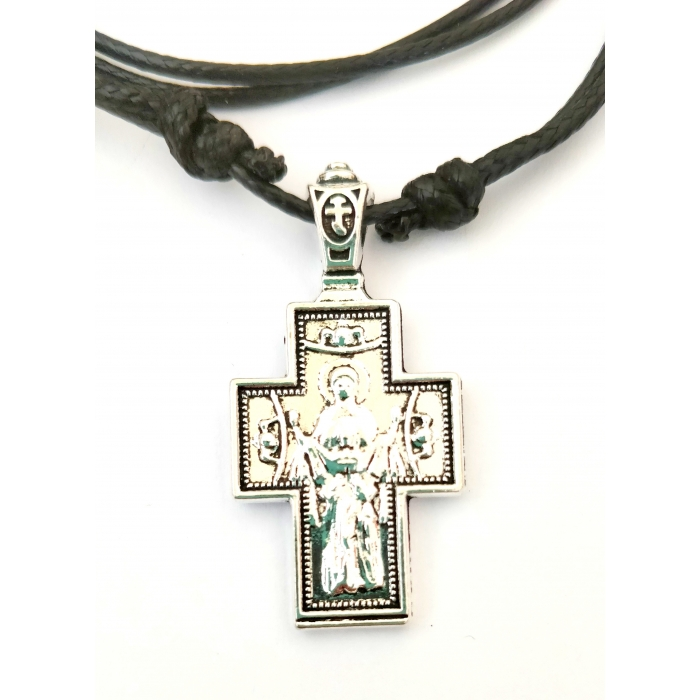 DOUBLE FACE STAINLESS STEEL CROSS PENDANT no.54