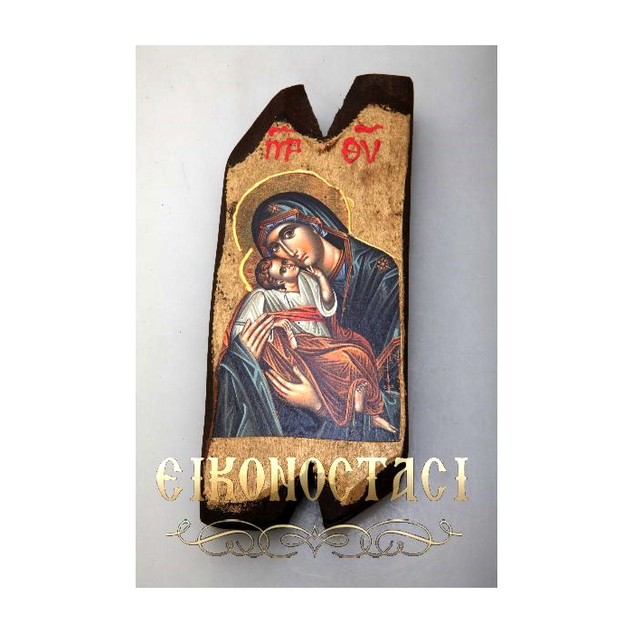 WOODEN ICON N12/2 VIRGIN MARY & JESUS CHRIST