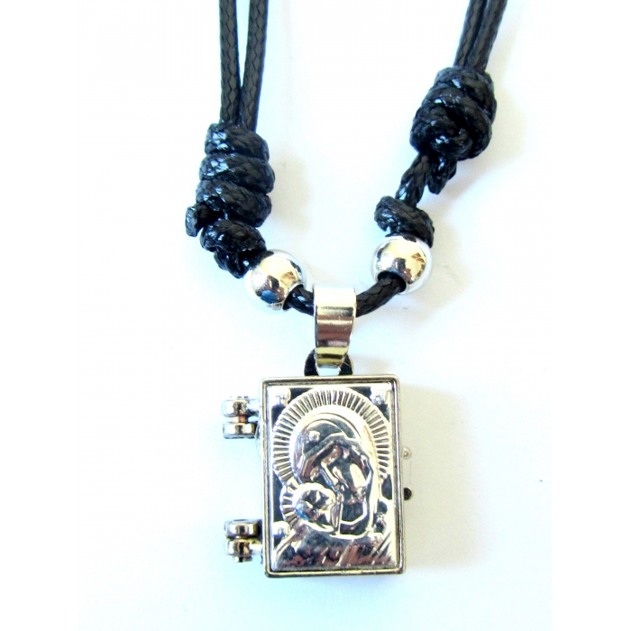 DOUBLE FACE STAINLESS STEEL CROSS PENDANT VIRGIN MARY no.55