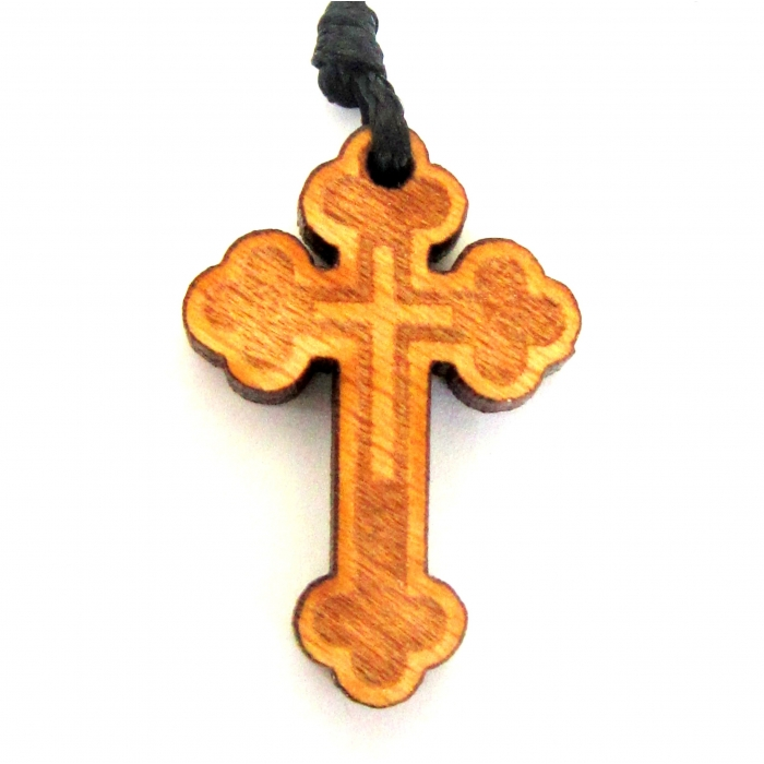 WOODEN CROSS PENDANT no.59