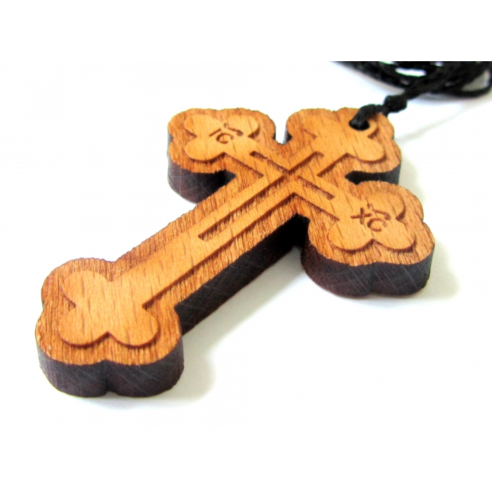 WOODEN CROSS PENDANT no.60