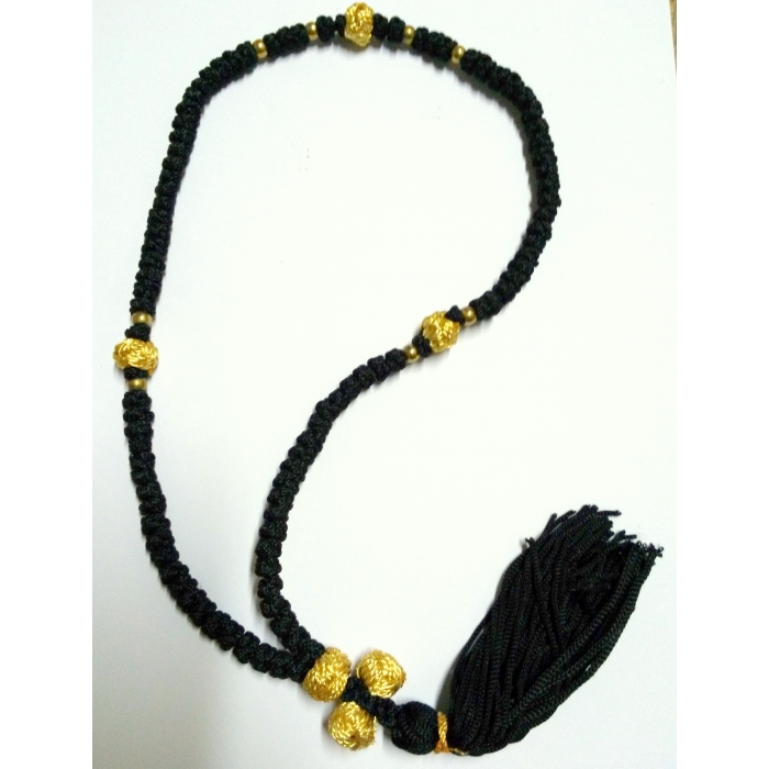 PRAYER ROPE 100 KNOTS BLACK/GOLD