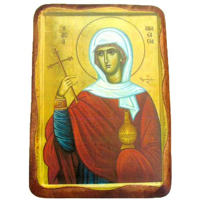 WOODEN ICON 1AP SAINT ANASTASIA