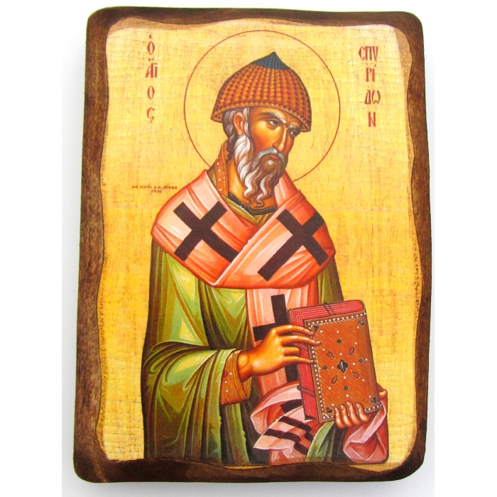 WOODEN ICON 1AP SAINT SPYRIDON