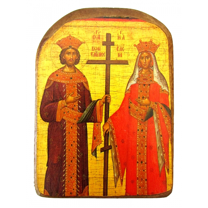 BOMBONNIERE ICON OF SAINTS CONSTANTINE AND HELEN MP2