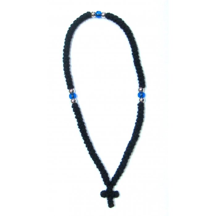 PRAYER ROPE 100 KNOTS BLACK WOOLEN 1