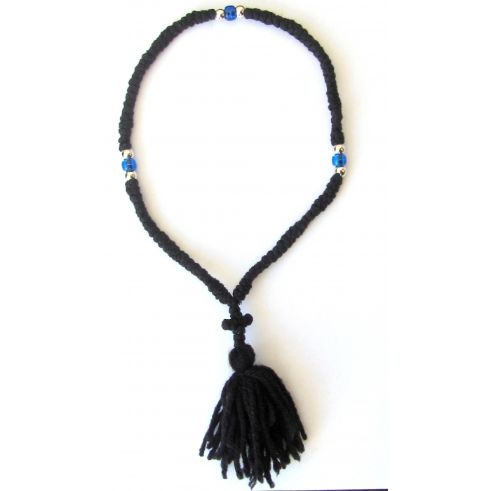 PRAYER ROPE 100 KNOTS BLACK WOOLEN 3