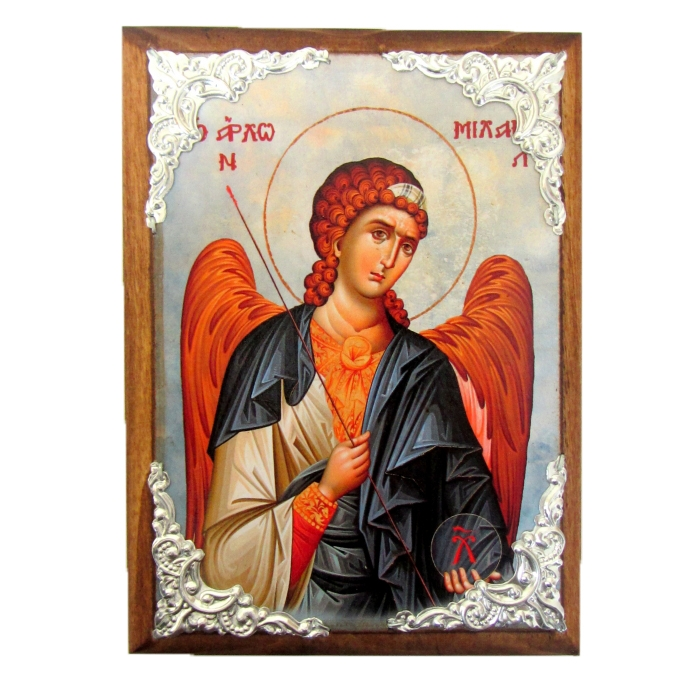 WOODEN ICON ARCHANGEL MICHAEL AM30