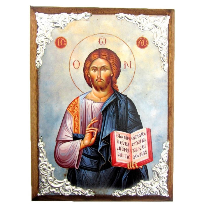 WOODEN ICON WITH JESUS CHRIST AM30