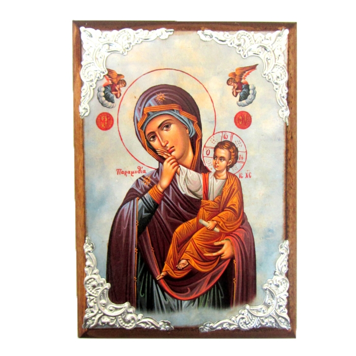 WOODEN ICON WITH VIRGIN MARY AM30.1