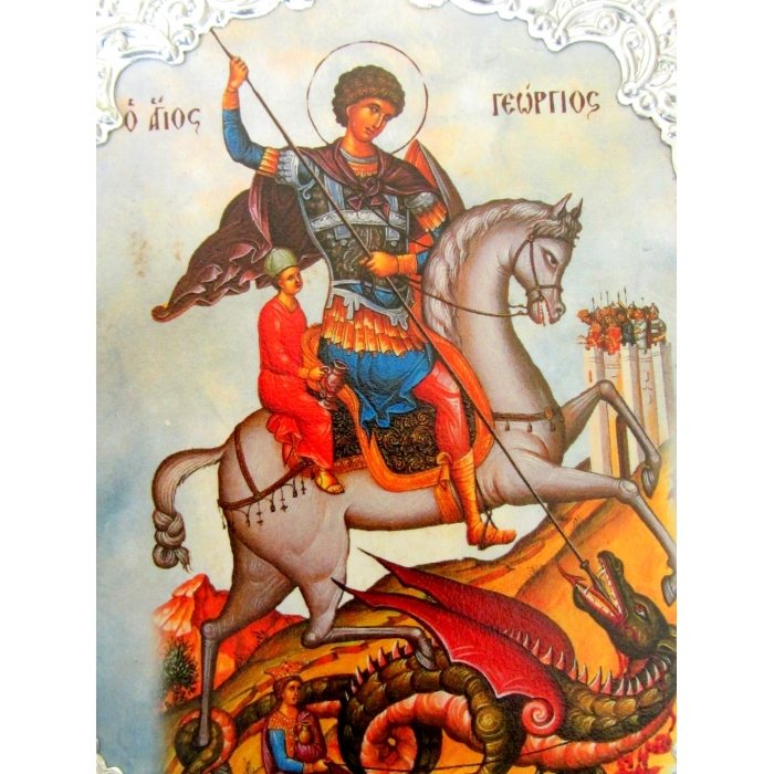 WOODEN ICON WITH SAINT GEORGE AM30