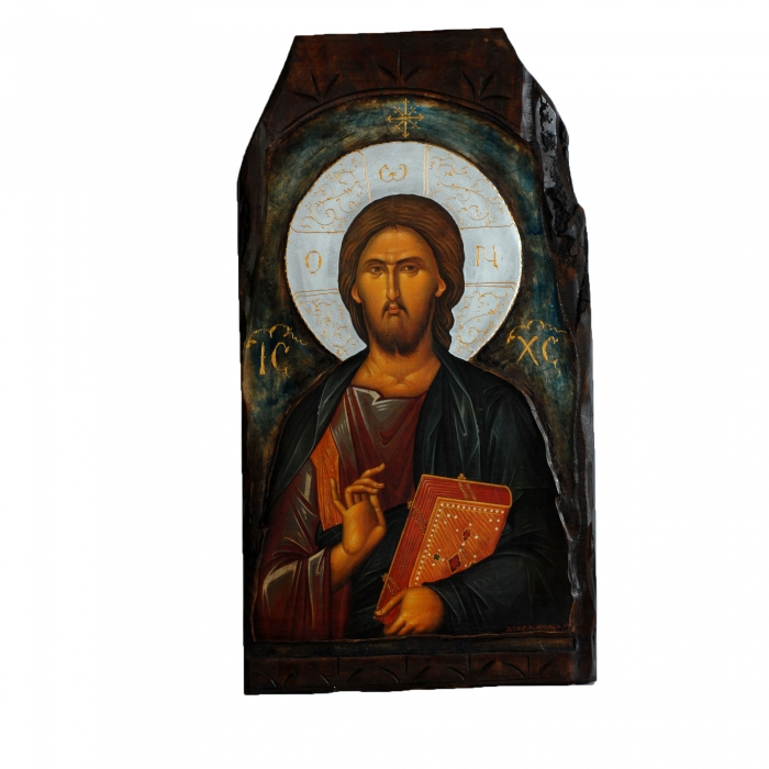 WOODEN ICON IS JESUS CHRIST