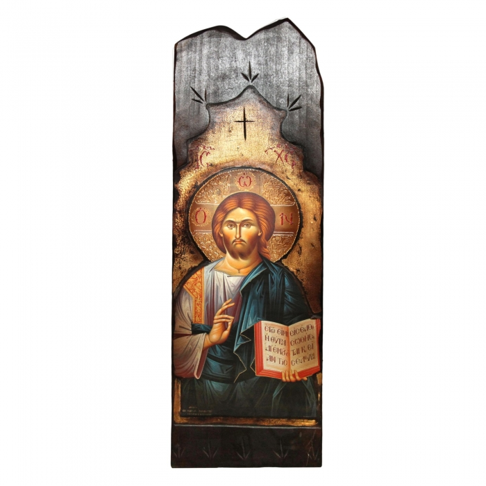 WOODEN BIG ICON JESUS CHRIST